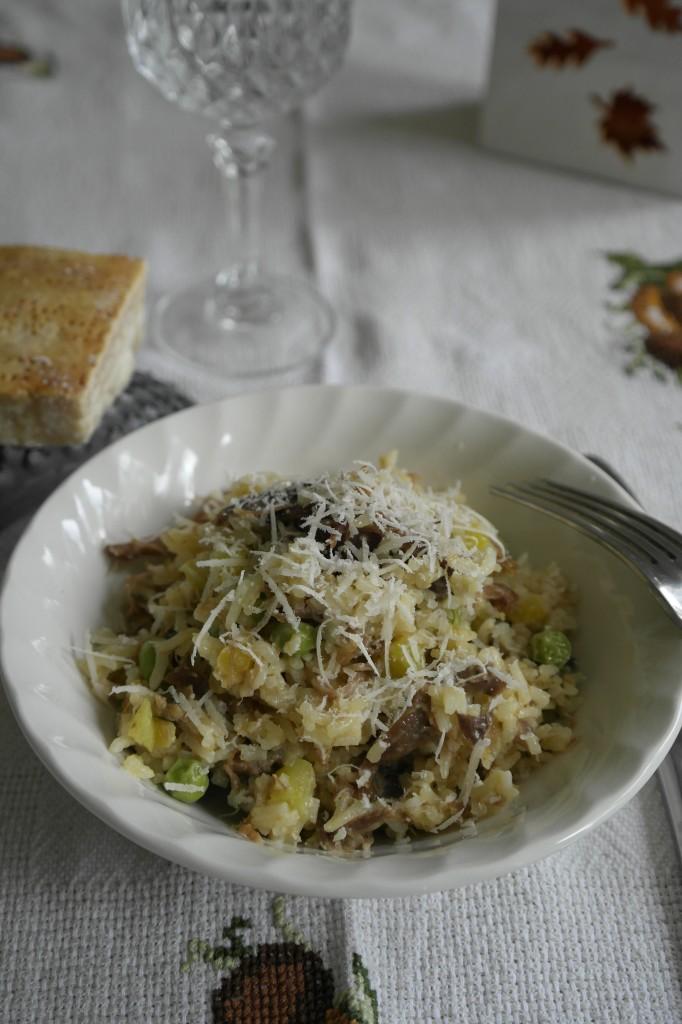 Risotto Basmati au canard confit. Fourchettes & papilles en joie.fr