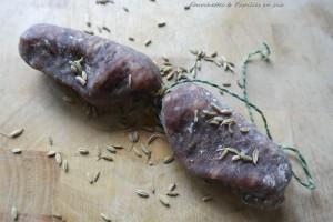 Fregola sarda. Saucisson italien sec au fenouil