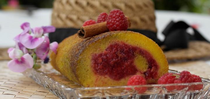 Torta de laranja aux framboises. Fourchettes et papilles en joie.fr