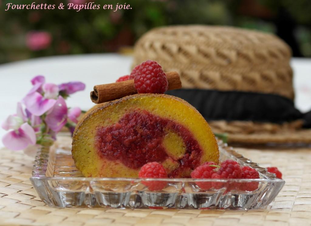 Torta de laranja aux framboises Fourchettes et papilles en joie.fr