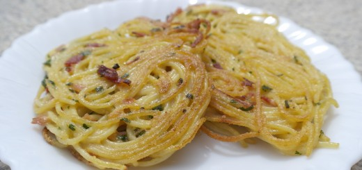 Galettes de spaghettis