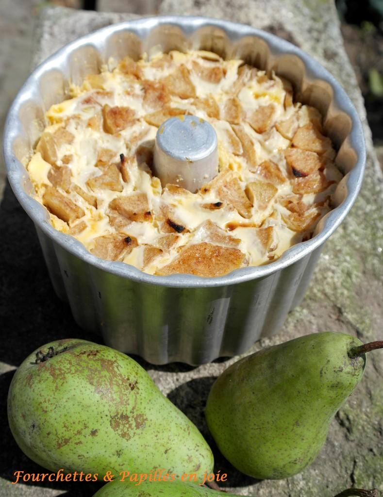 Pudding aux poires, recette portugaise.