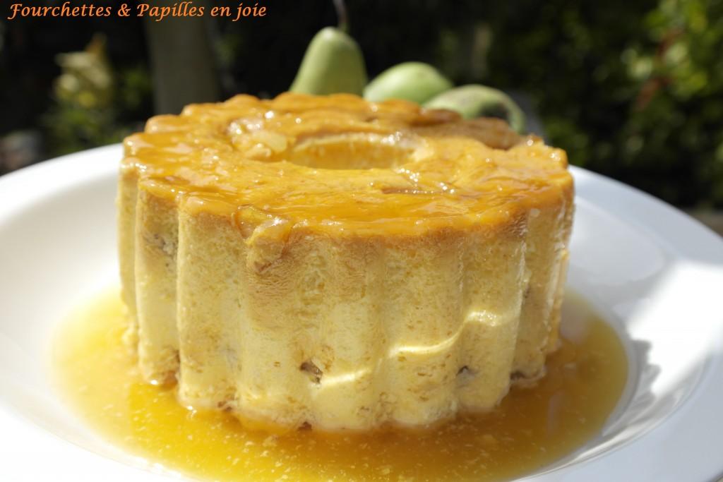 Pudding de poires, recette portugaise