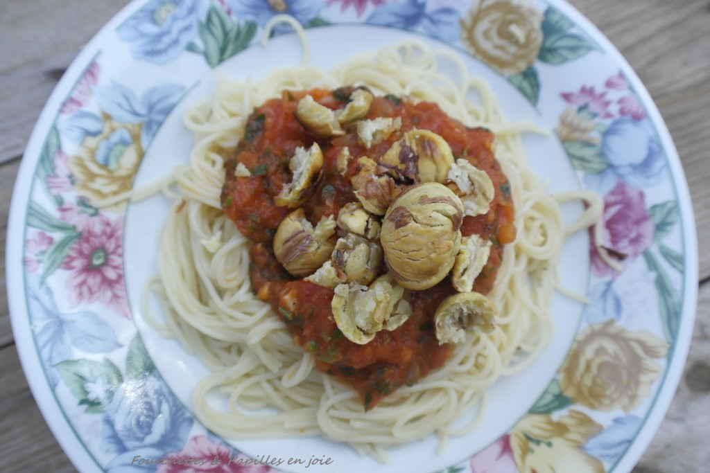 Spaghetti aux châtaignes et à la sauge