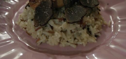 Risotto aux 3 riz, foie gras et truffe.