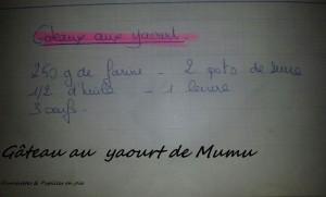 Gâteau au Yaourt de Mumu Fourchettes & Papilles en joie.fr