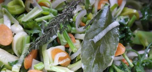 Bouillon de légumes.