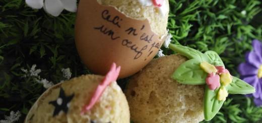 Cupcakes de Pâques ... Dans de vrais oeufs