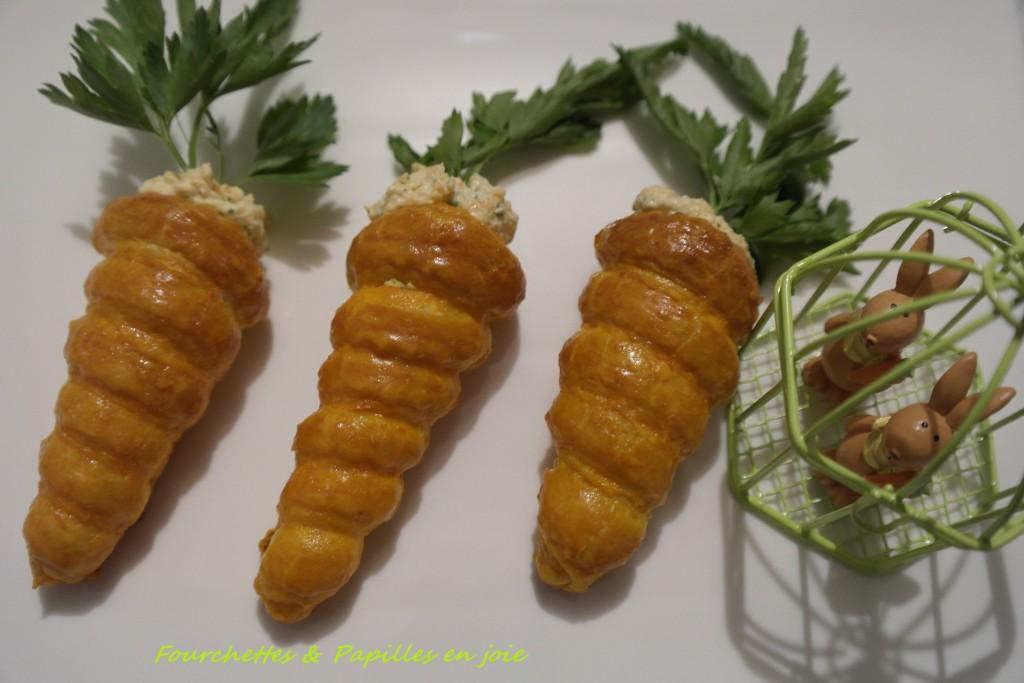 carottes feuilletées garnies de rillettes de carottes