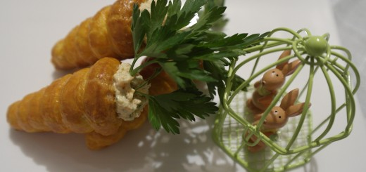 carottes feuilletées garnies à la rillette de carottes