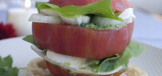 Hamburgers de tomate. Fourchettesetpapillesenjoie.fr