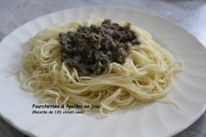Spaghetti aux Câpres et aux Anchois