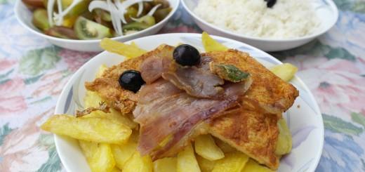 escalope de porc à la portugaise.