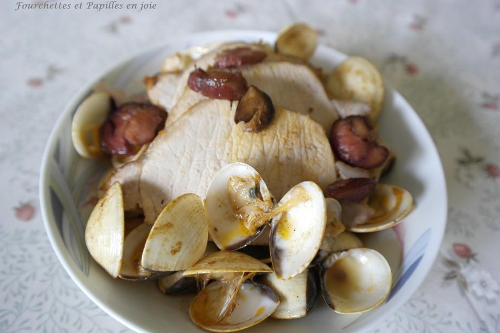 Rôti de porc aux coques