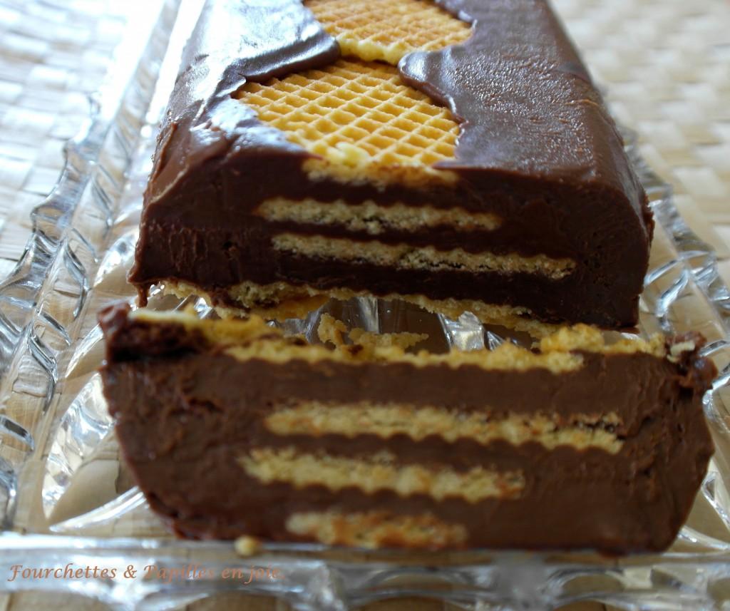 Gâteau au chocolat petit-beurre et chocolat sans cuisson