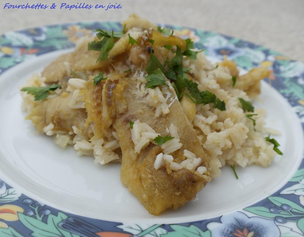 Riz à la morue & saucisse portugaise au four... fourchettes et papilles en joie.fr
