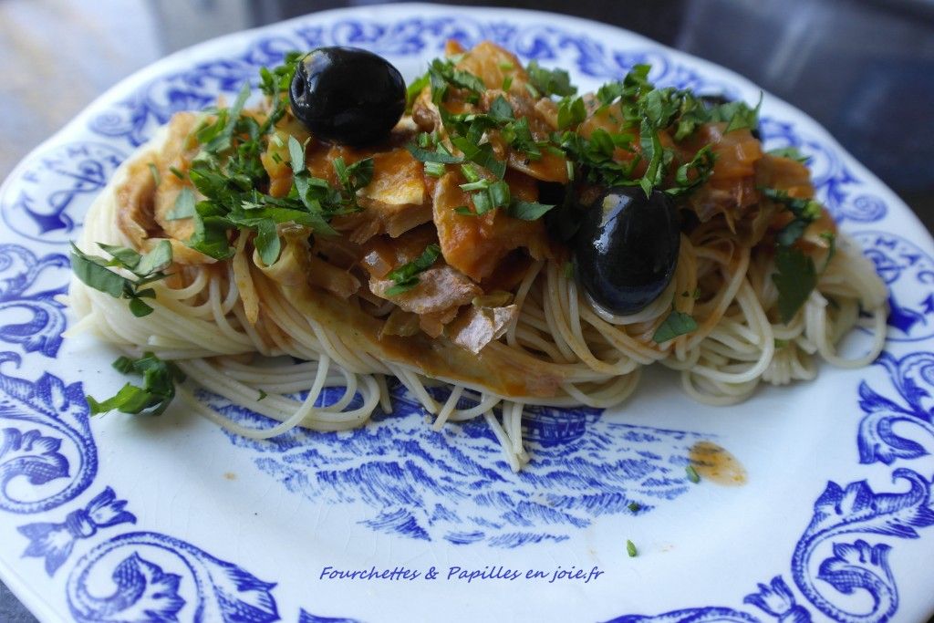 Spaghettis à la Morue aigre-douce.