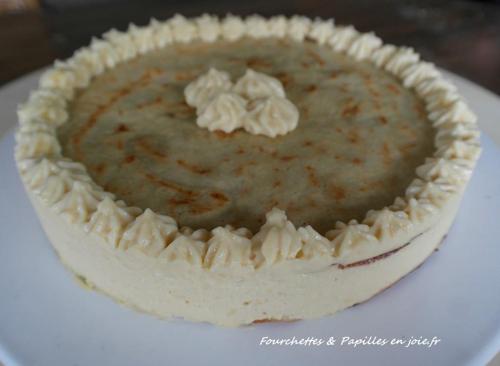Gâteau de crêpes acidulé.