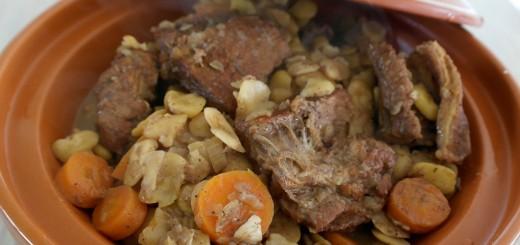 Tajine de veau aux fèves
