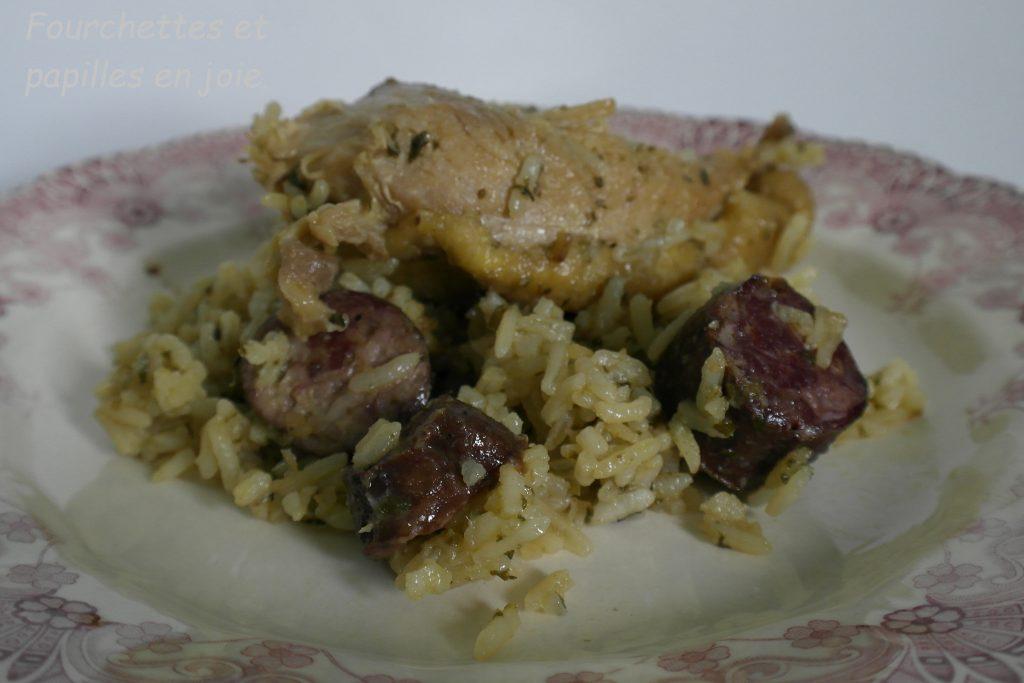 Arroz de frango Malandrinho ou Poulet paresseux à la portugaise .